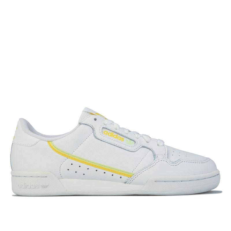 Adidas Originals Womens Continental 80 Trainers White yellow