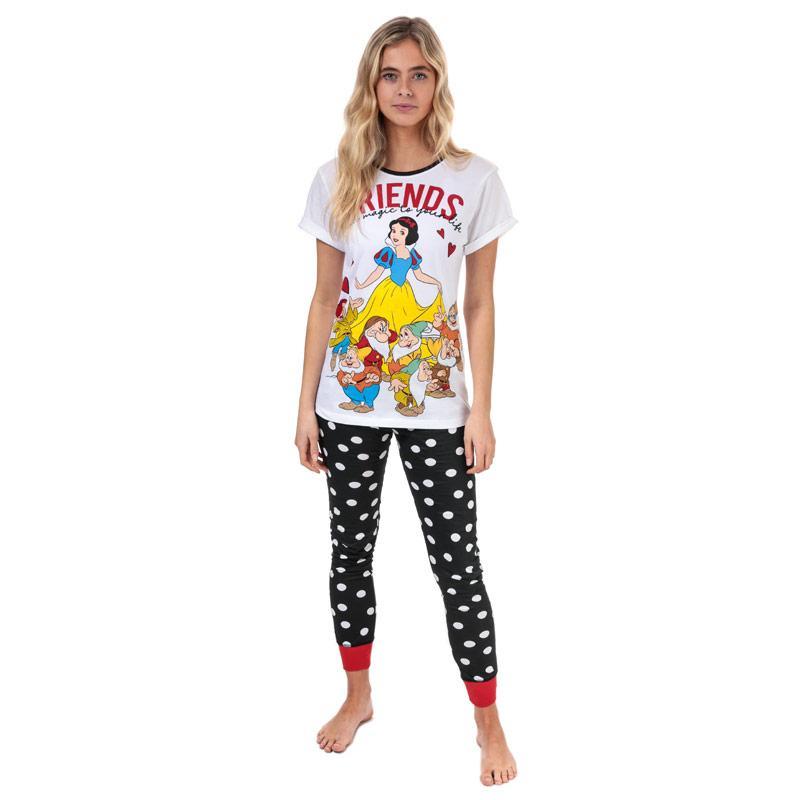 Pyžama Disney Womens Snow White Pyjamas White Black
