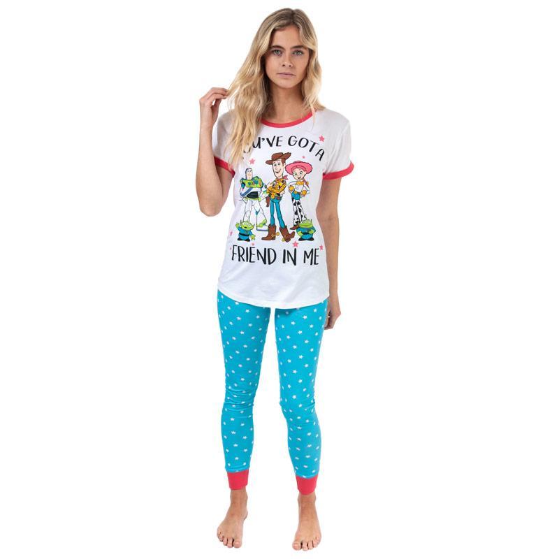 Pyžama Disney Womens Toy Story Pyjamas White blue