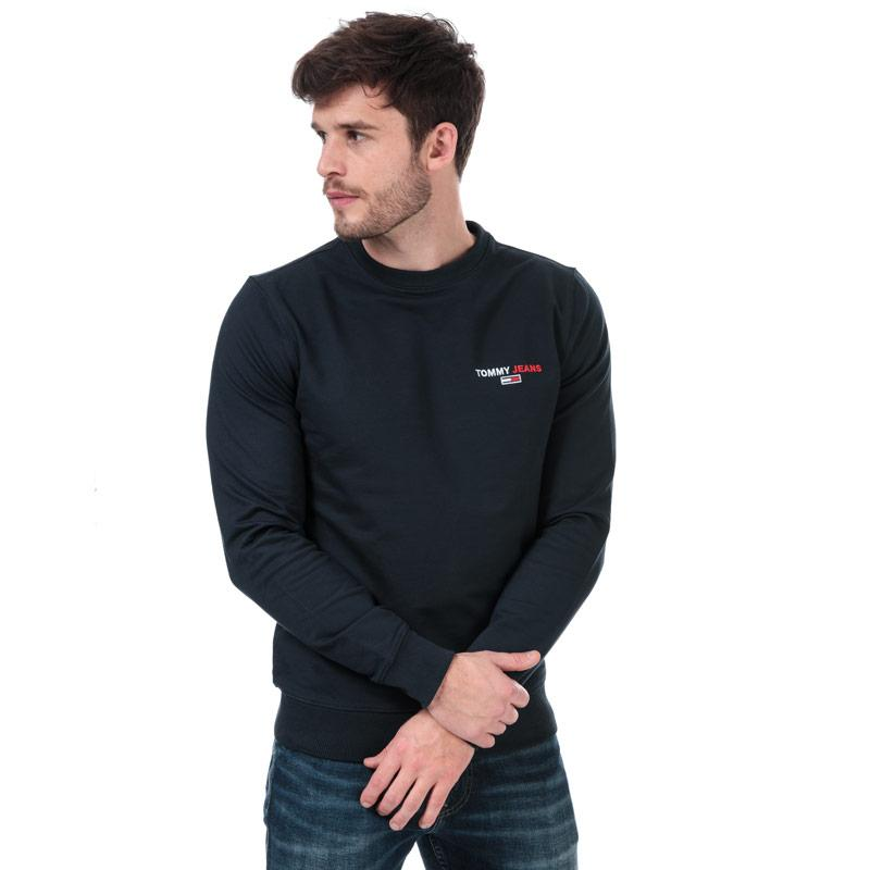 Mikina Tommy Hilfiger Mens Tommy Chest Sweatshirt Navy