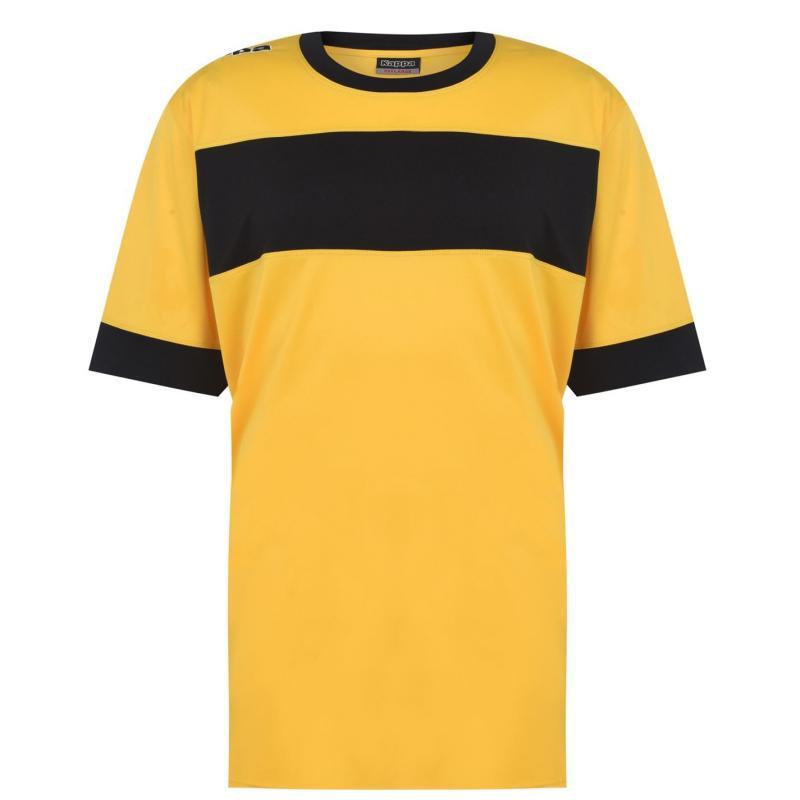 Tričko Kappa Remilio T Shirt Mens Soleil /Black