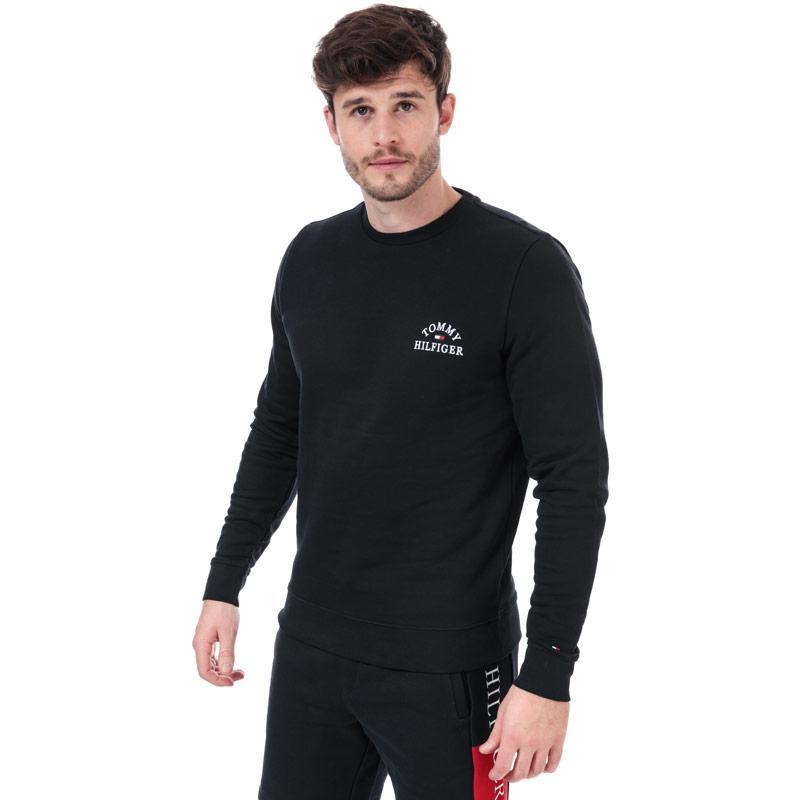 Mikina Tommy Hilfiger Mens Embroidered Sweatshirt Navy