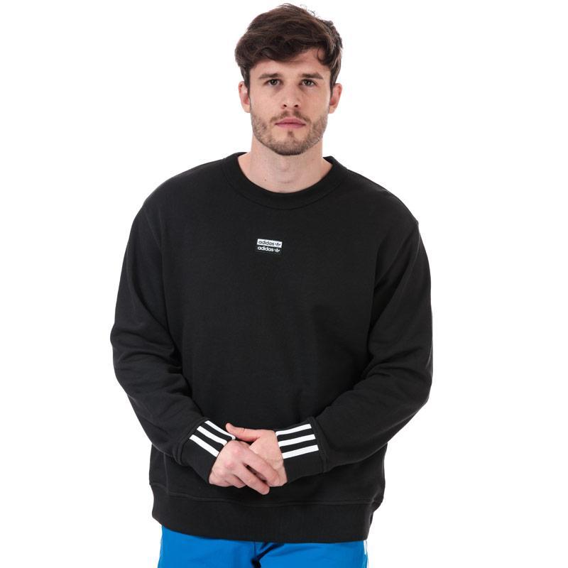 Mikina Adidas Originals Mens R.Y.V. Crew Sweatshirt Black