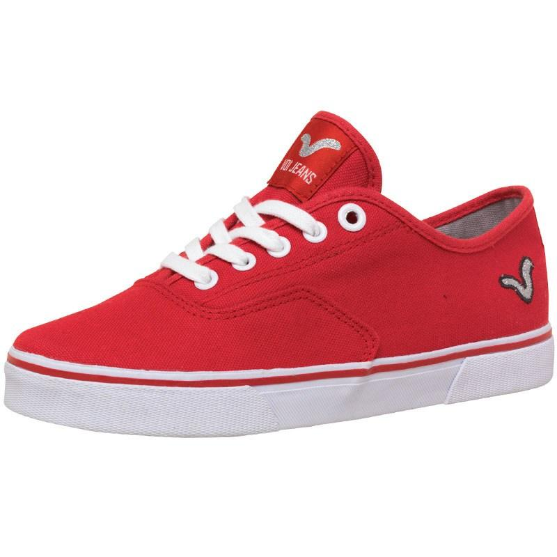 Boty Voi Jeans Womens Nirvana Canvas Shoes Red