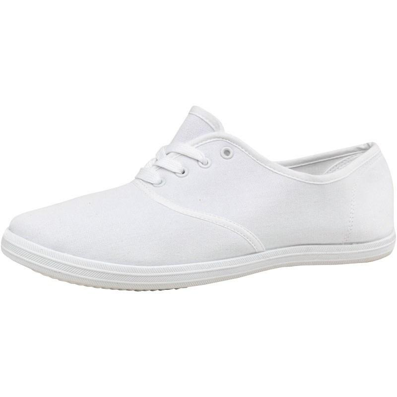 Boty Mad Wax Mens Canvas Pumps White