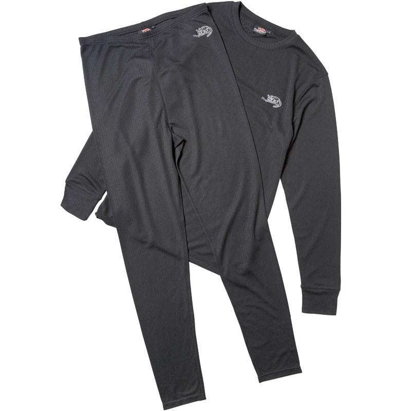 Kangaroo Poo Mens Baselayer Set Black Černé