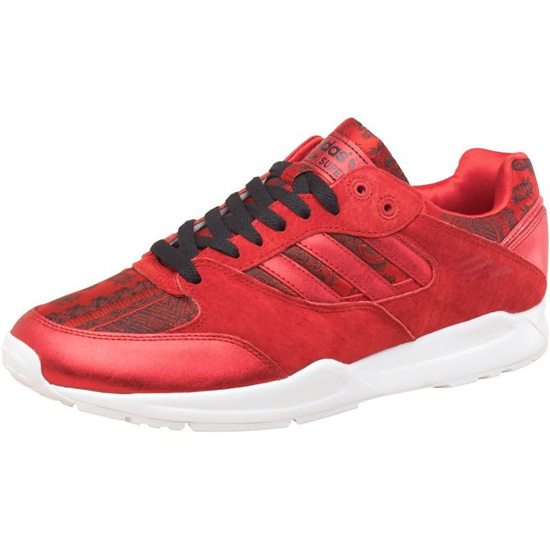 Adidas Originals Mens Tech Super Trainers Scarlet Red