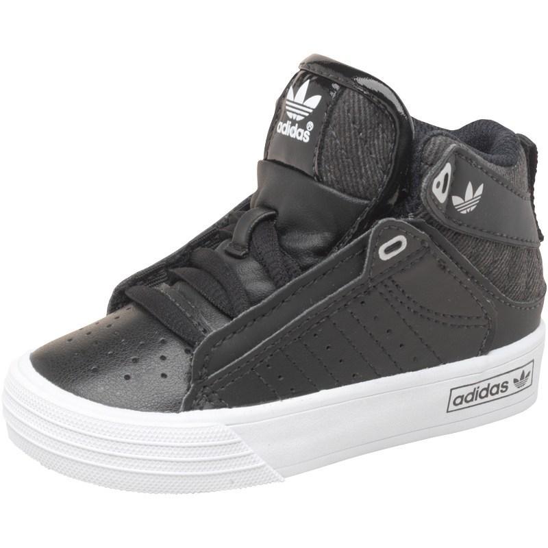 Adidas Originals Boys Freemont Mid Trainers Black/Black/White