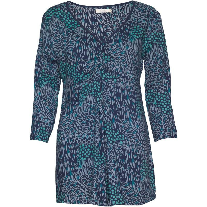Onfire Womens Tunic Navy/Teal