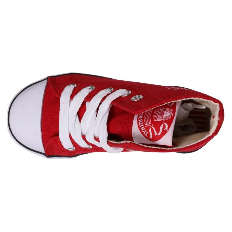 Dunlop Infant Canvas High Top Trainers Red