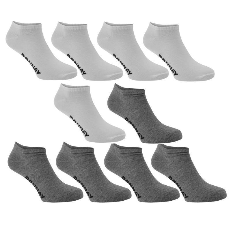 Ponožky Donnay 10 Pack Trainer Socks White