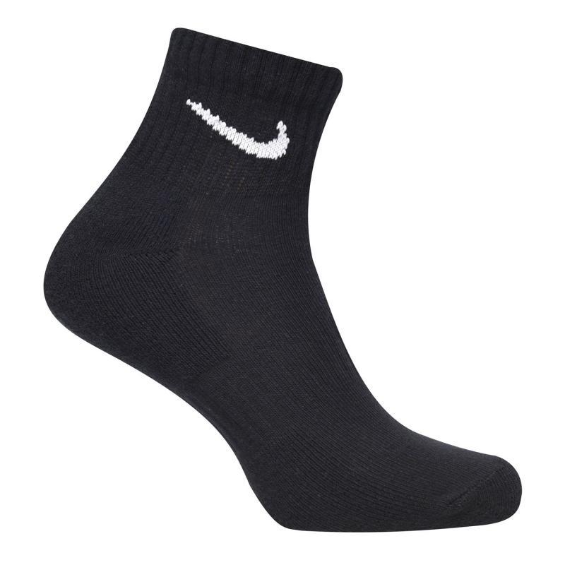 Ponožky Nike Three Pack Quarter Socks Mens BLACK/WHITE