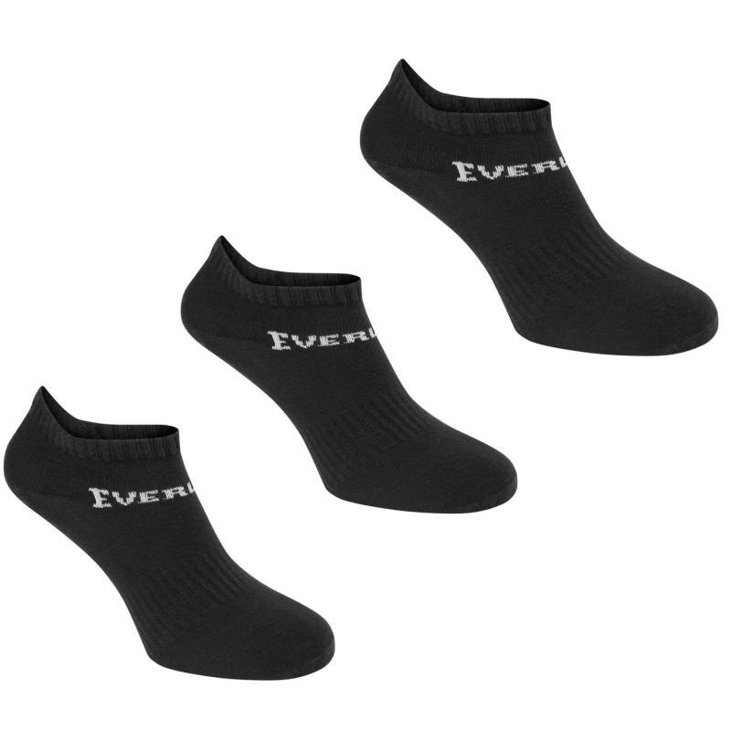 Ponožky Everlast 3 Pack Trainer Socks Black