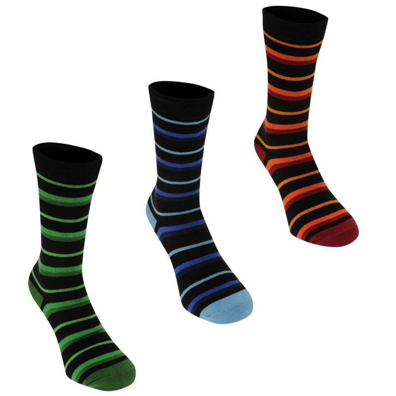 Ponožky Kangol Formal Sock 3 Pack Mens Multi Stripe