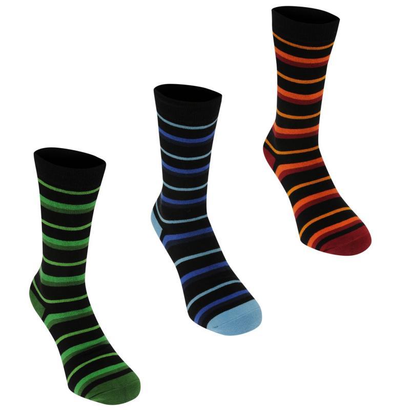 Ponožky Kangol Formal Sock 3 Pack Mens Multi Stripe
