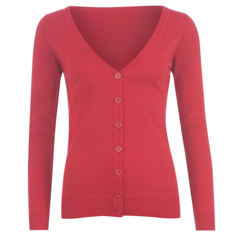 Svetr Miss Fiori Essential Cardigan Ladies Pink