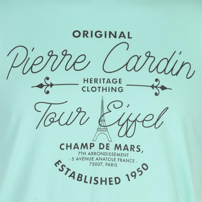 Tričko Pierre Cardin Pastel T Shirt Mens Sky