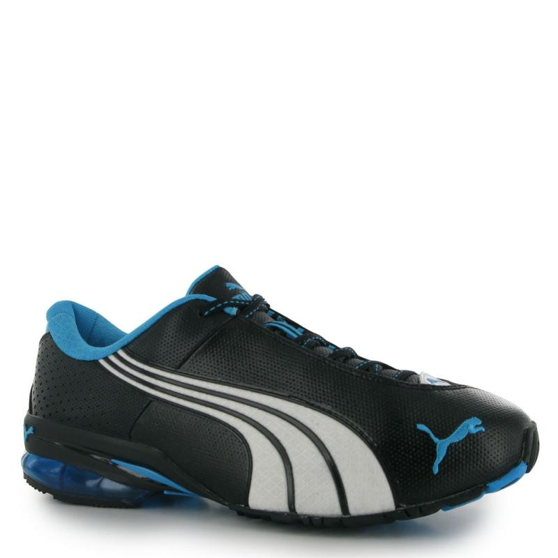 Puma Jago Perforated Mens Trainers Black/Fluo