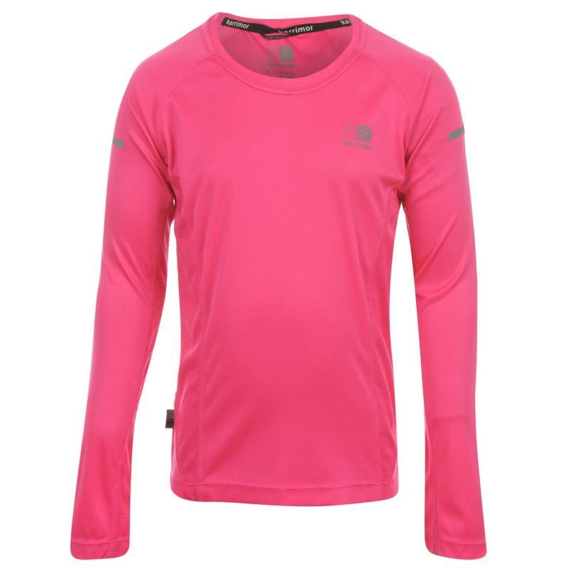 Karrimor Long Sleeved Running Top Girls Pink