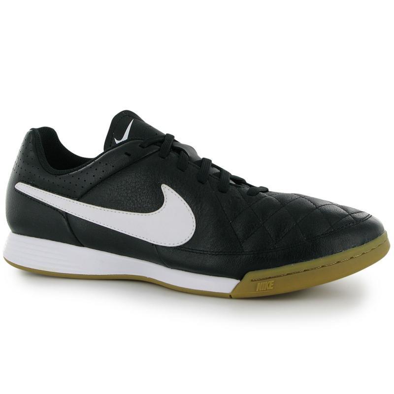 Nike Tiempo Genio Mens Indoor Football Trainers Black/White