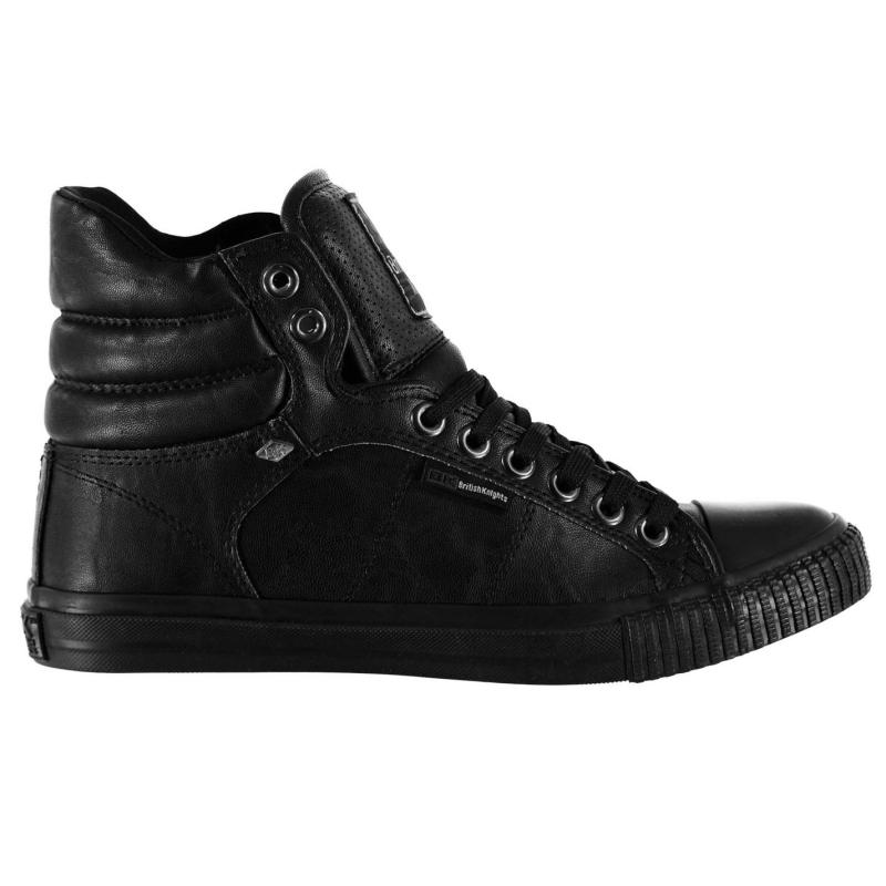 Boty British Knights Atoll Mid PU Mens Trainers Black/Black
