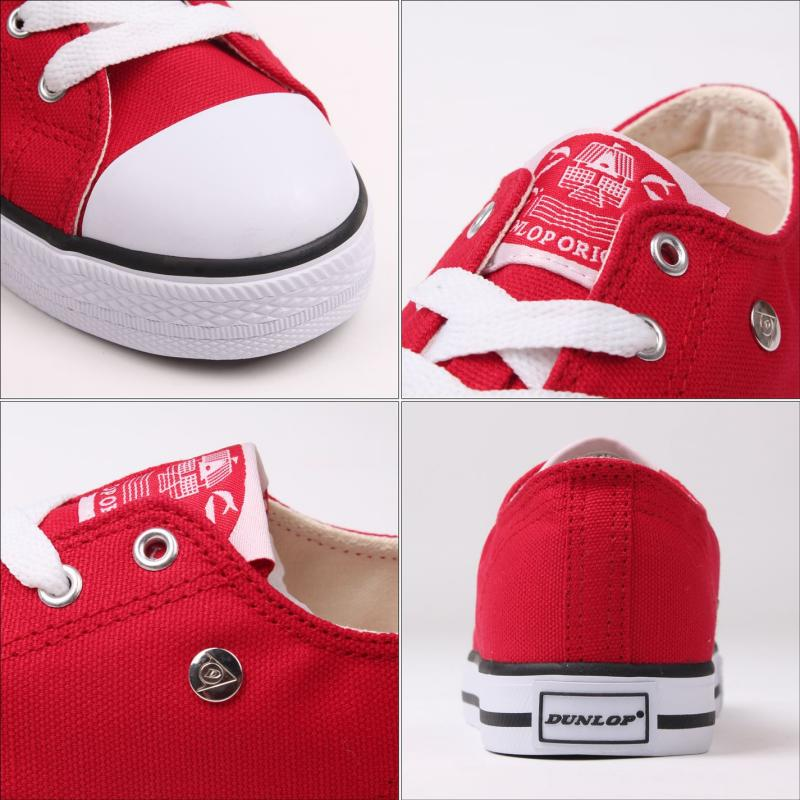 Boty Dunlop Canvas Low Kids Trainers Red