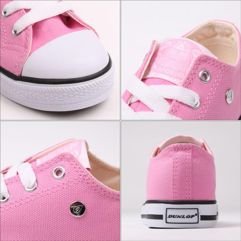 Boty Dunlop Canvas Low Kids Trainers Pink