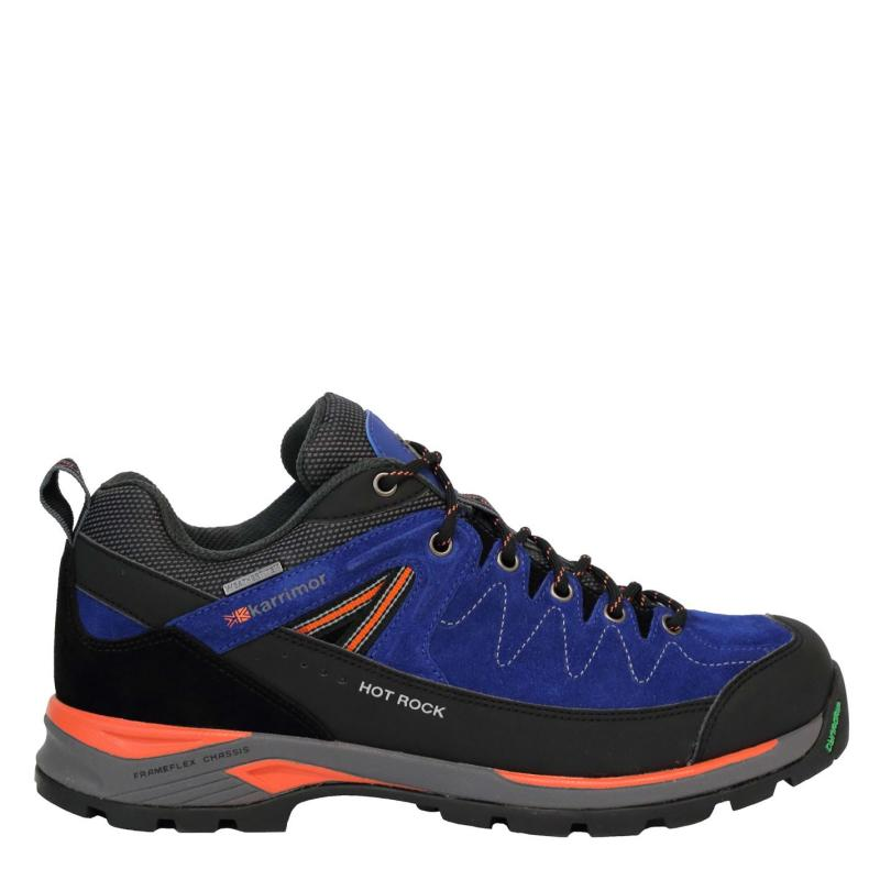 Boty Karrimor Hot Rock Low Mens Walking Shoes Blue/Orange