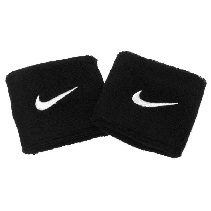 Nike Swoosh Wristband 2 Pack Black/White