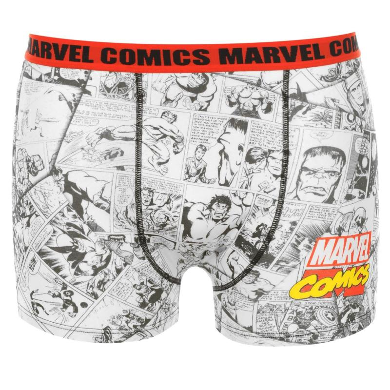 Spodní prádlo Marvel Single Boxer Shorts Junior Red Multi