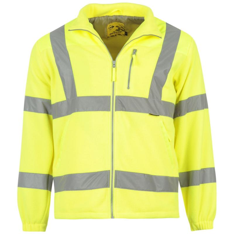 Dunlop Hi Vis Fleece Jacket Mens Yellow