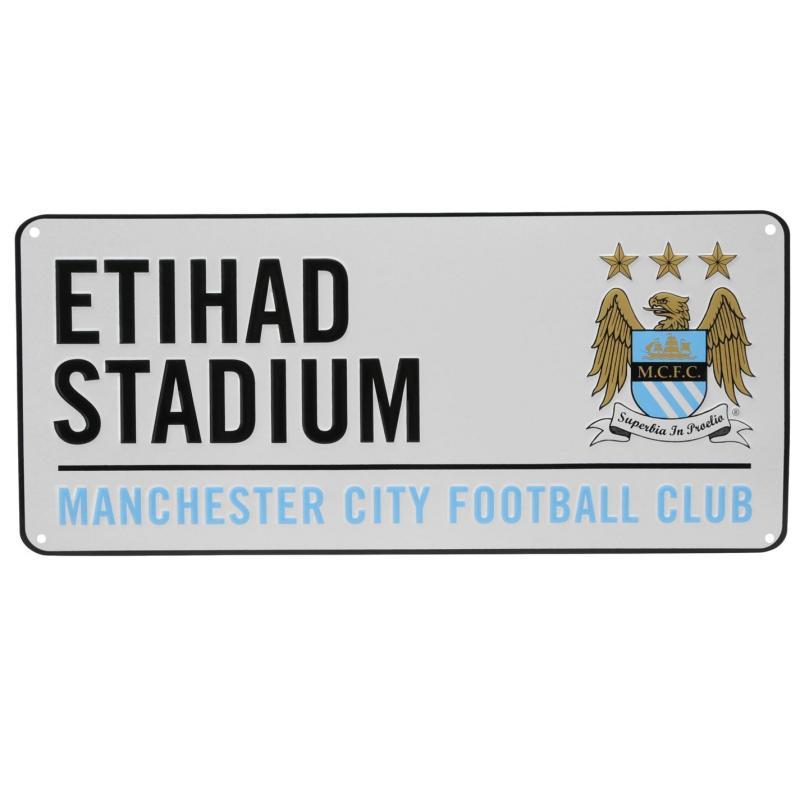 Team 3D Street Sign Man City