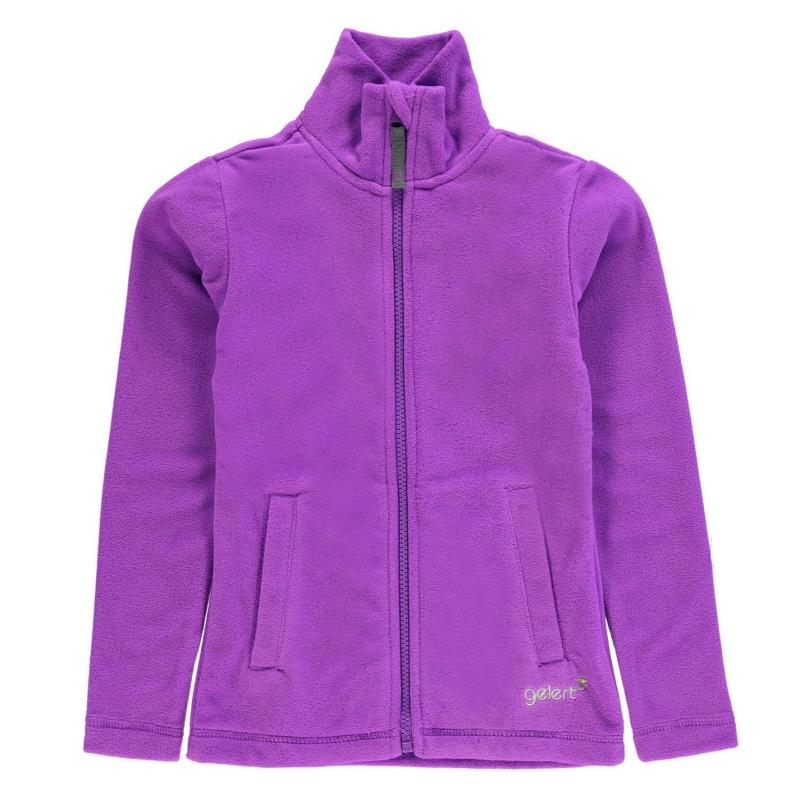 Gelert Ottawa Fleece Jacket Junior Girls Purple