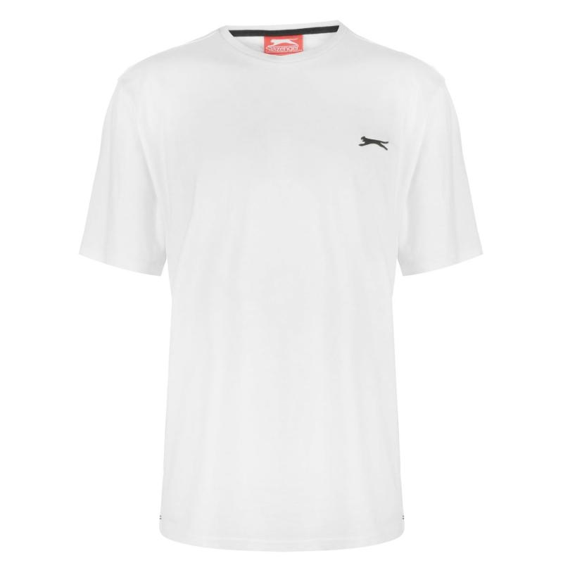 Tričko Slazenger Plain T Shirt Mens White