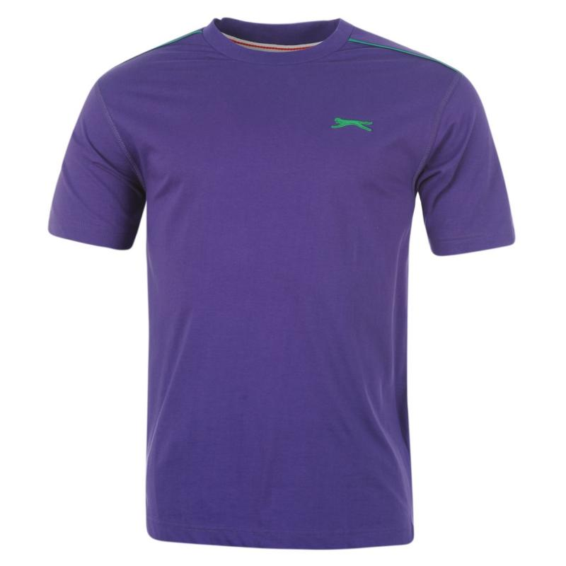 Tričko Slazenger Plain T Shirt Mens Purple