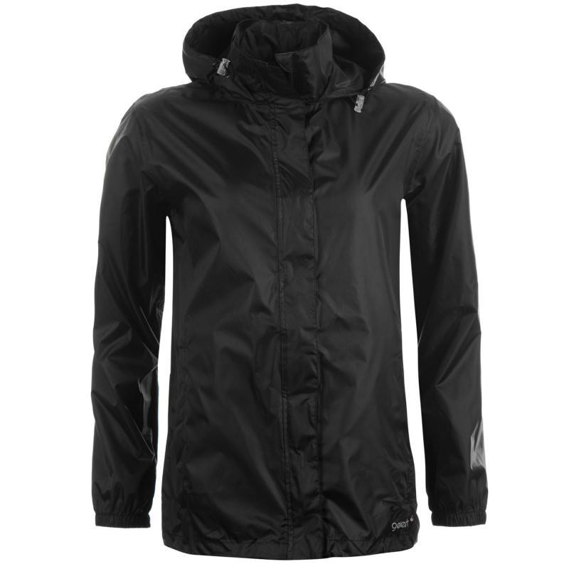Gelert Packaway Waterproof Jacket Ladies Black