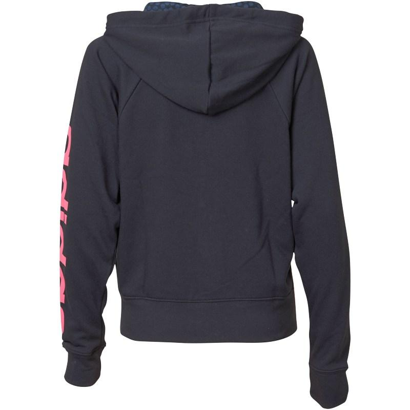 Mikina s kapucí adidas Womens Reload Full Zip Hooded Sweat Black/Pink