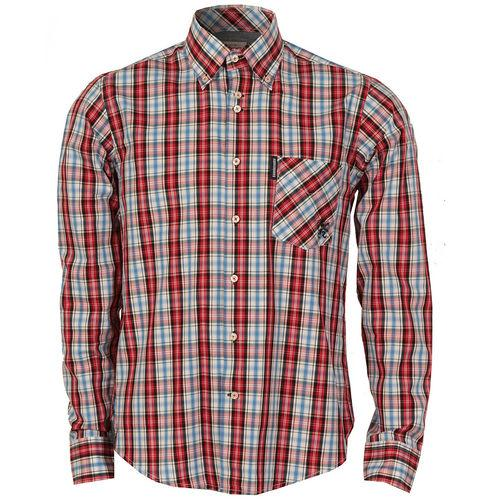 Košile Lambretta Mens Check Shirt Red