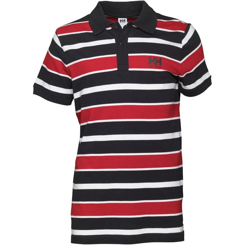 Helly Hansen Mens Block Stripe Polo Black/Red/White