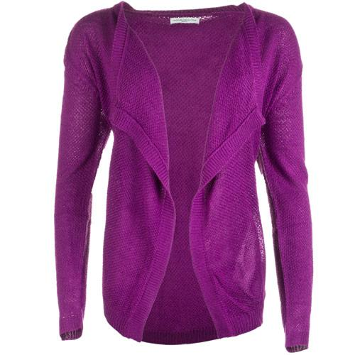 Jacqueline De Yong Womens Columbus Knit Cardigan Purple