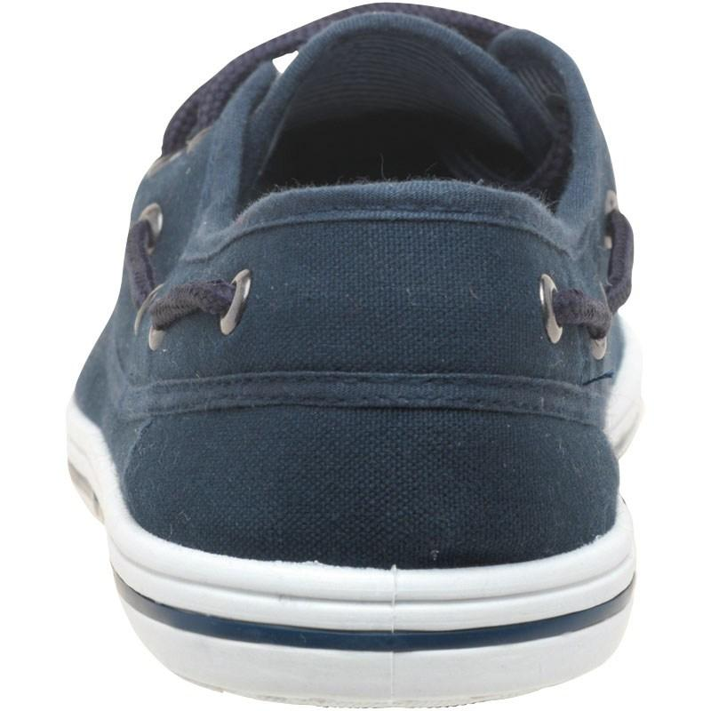 Mad Wax Mens Canvas Boat Shoes Navy