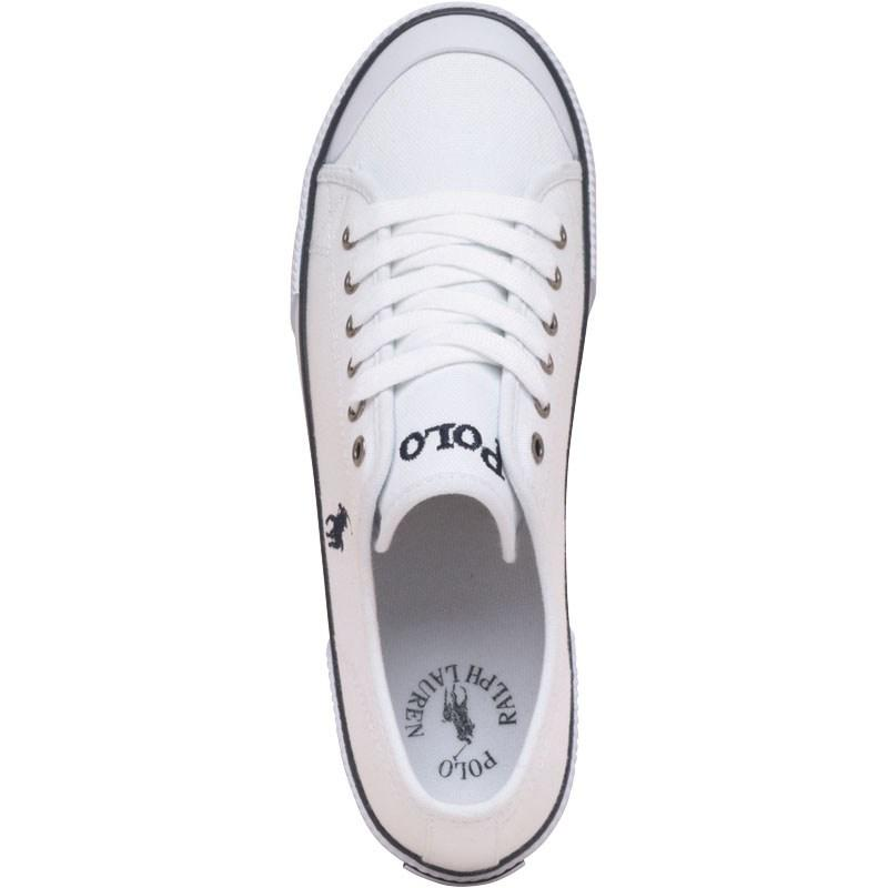 Boty Ralph Lauren Junior Chaz Canvas Shoes White