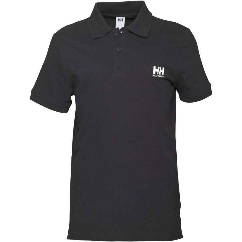Helly Hansen Mens Basic Logo Polo Black