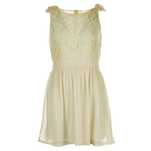 Šaty Iska Womens Lace Top Dress Cream