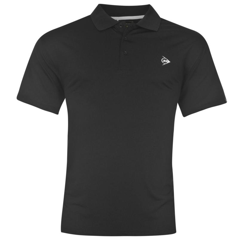 Dunlop Plain Polo Shirt Mens Black