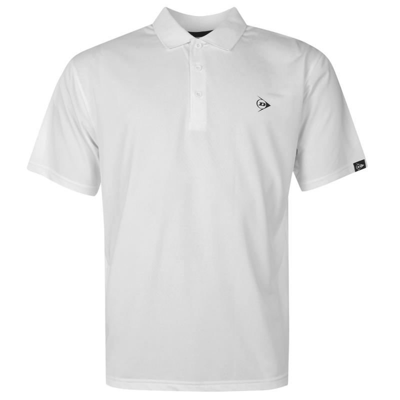 Dunlop Plain Polo Shirt Mens White