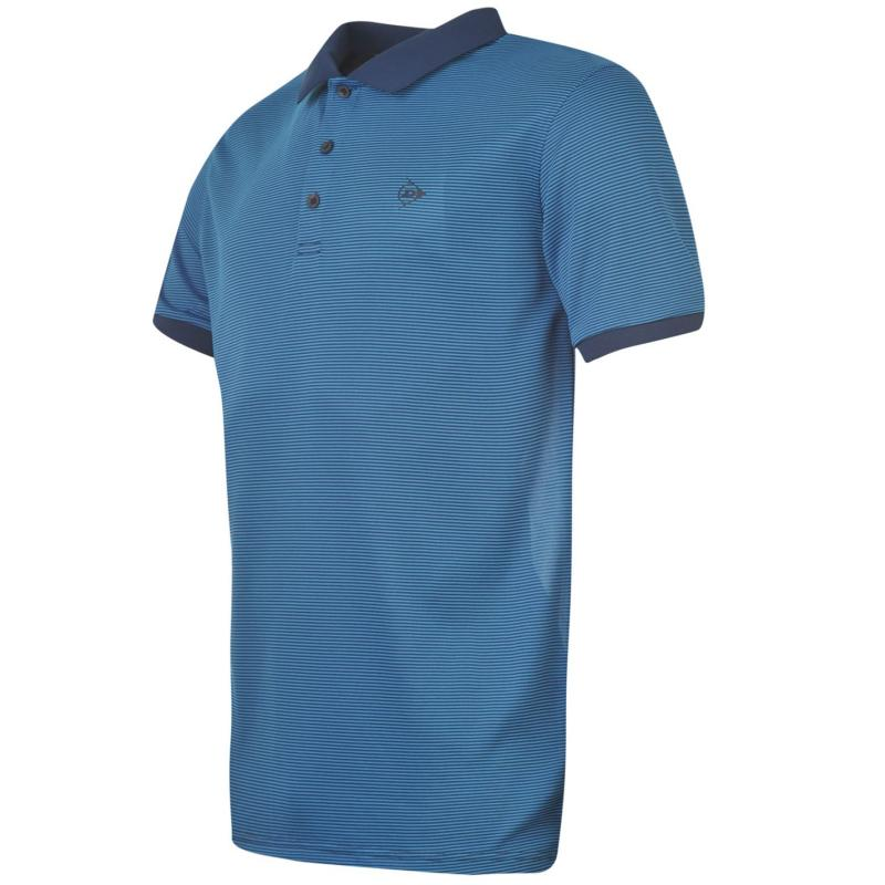 Dunlop Fine Stripe Polo Shirt Mens Navy
