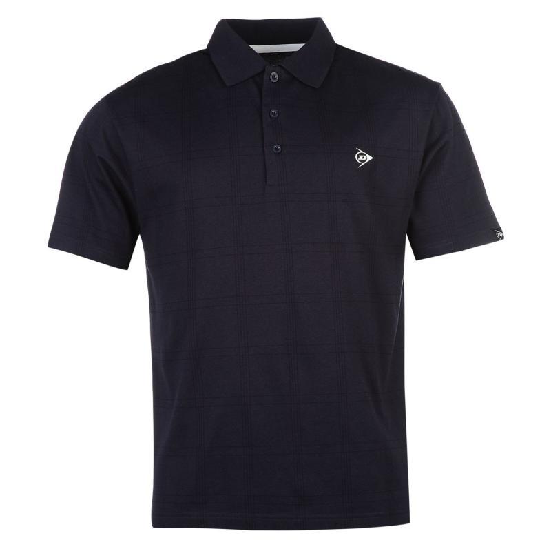 Dunlop Check Golf Polo Shirt Mens Green