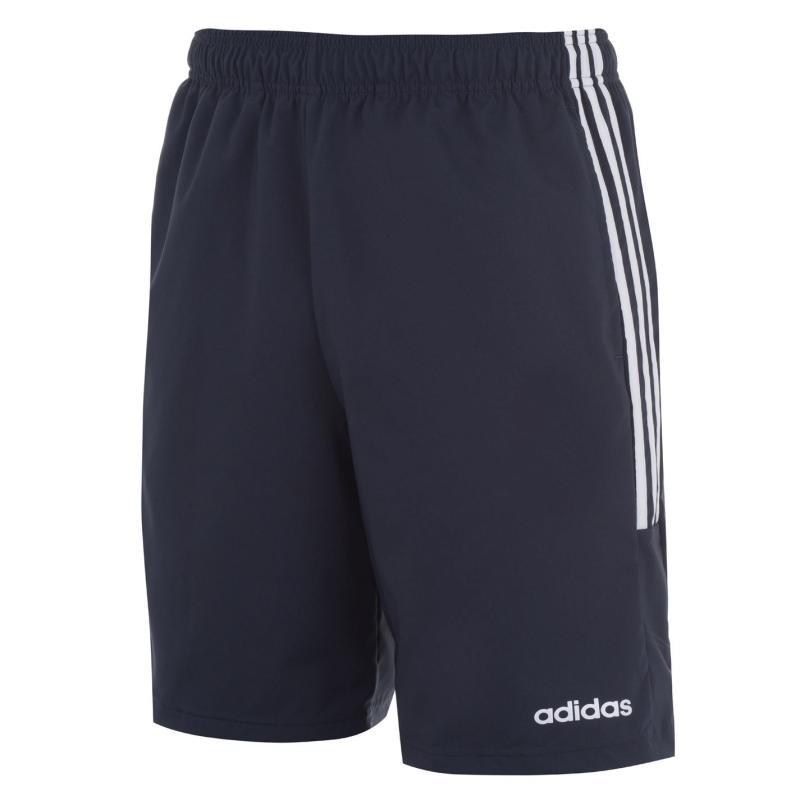 Adidas Mens 3-Stripes Shorts Navy/White