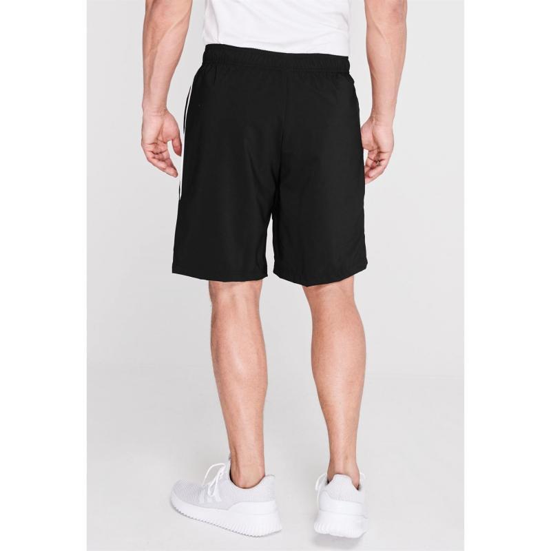 Adidas Mens Sports 3-Stripes Shorts BLACK/WHITE